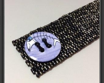 Fish bone bracelet