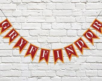 GRYFFINDOR House Banner   Hogwarts School   Harry Potter Inspired   Party Banner