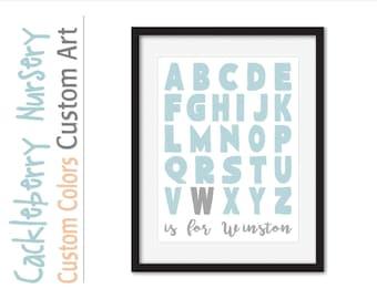 alphabet wall art, nursery letters, alphabet nursery, alphabet baby boy, abc boys room, alphabet toddler, alphabet boy nursery, boy nursery