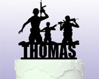 Personalised Army/Marine Cake Topper