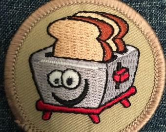 Happy Toaster Patch - brave little toaster kawaii cute breakfast kjallraven Hershel kawaii