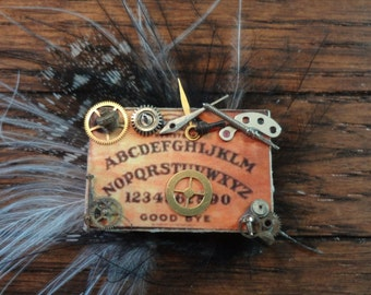 Dollhouse Miniature Gear Ouija Board Steampunked