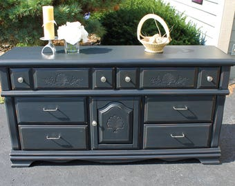 SOLD*****Refinished Solid Wood Buffet/Dresser
