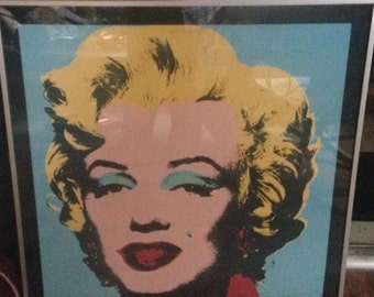 Andy Warhol Pop Art Print Marilyn Monroe FRAMED