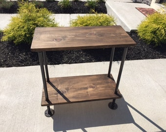 Handmade Industrial Pipe Stand- End Table