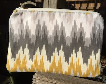 Neutral clutch, makeup bag, or purse ditty bag