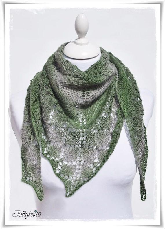 Knitting Pattern Lace Shawl Irish Moss from Jollyknits on ...
