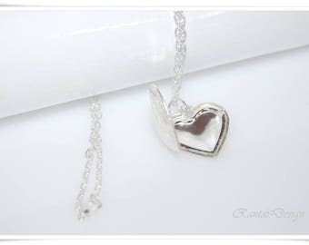 Necklace Crystal photo frame Heart Locket pendant