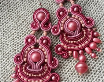 earrings soutach long