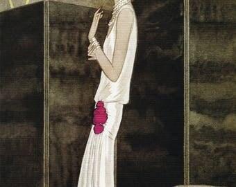 50% Off Estate Sale Vintage Vogue Poster, 1920s Fashion Art Print, 11 x 14 PMV14, Glossy Print Flapper
