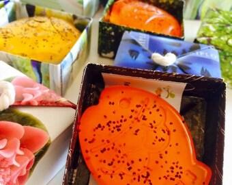 Bomboniere con Saponi Naturali 30g in Scatole in Carta Riciclata ad Origami-Eco Bomboniere-Wedding favor-Eco friendly favor-Customized Gift