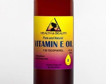 4 oz TOCOPHEROL T-50 VITAMIN E OIL Anti Aging Natural Premium Pure