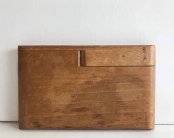 Vintage Wood Cigarette Case Handcrafted Cigarette Case