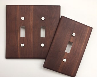 Walnut Wood light switch plate cover // brown planks image 63 // SAME DAY SHIPPING**
