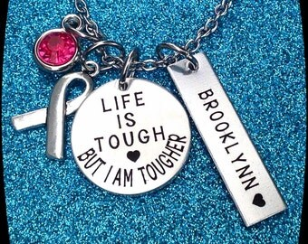 Breast Cancer awareness Jewelry, Cancer jewelry, Awareness gift, Leukemia, Muscular Dystrophy, ADHD Jewelry, ENGRAVED