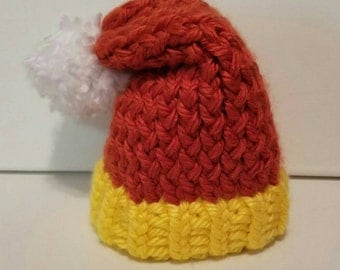 Newborn Knit Halloween Candy Corn Hat - Size 0-6 Months - Ready to Ship