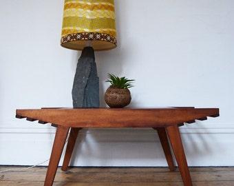 Wooden Coffee Table Mid Century Design Vintage Retro 1960s 1970s Danish