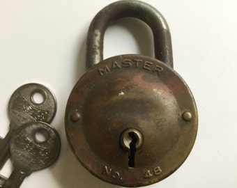 Vintage Master No. 48 Padlock and Key