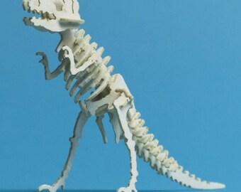T-Rex Tiny Dinosaur Skeleton Bare Bones - Paper Puzzle Sculpture Model