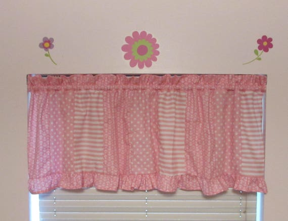 Create your own valance/choice of three prints/ruffle valance/nursery valance/baby valance/toddler valance/girls valance/