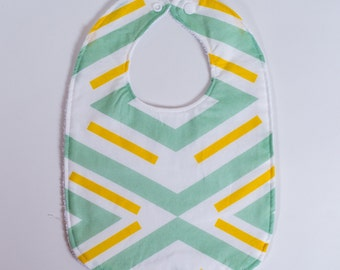 Bibs Modern Mint Yellow. Mint Bibs. Toddler Bibs. Baby Bibs. Baby Shower Gift. Baby Bib Set.