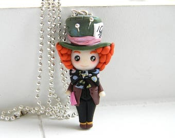 Mad Hatter inspired, Alice in Wonderland, Necklace