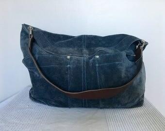 Vintage Designer Owen Barry by Somerset Suede Leather Hobo Style Shoulder Bag Purse