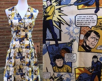 The Final Frontier Retro Style Star Trek Dress Small and Large
