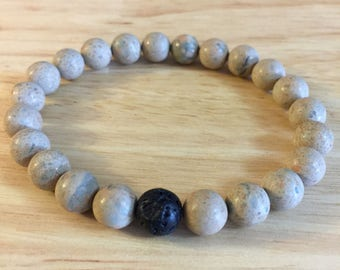 Rhyolite and Lava Stone bracelet