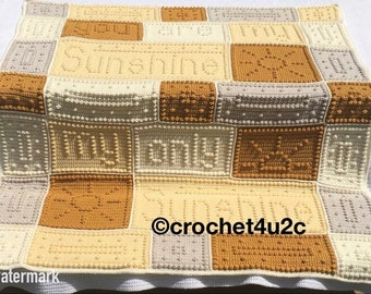 You are my Sunshine blanket (Handmade Crochet)