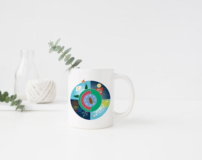 PLASTIC MUG, Coffee Mug, Coffee Cup, Summer, Watermelon, Bubbles, Fishing, Fire Works, Camping, 4th of July