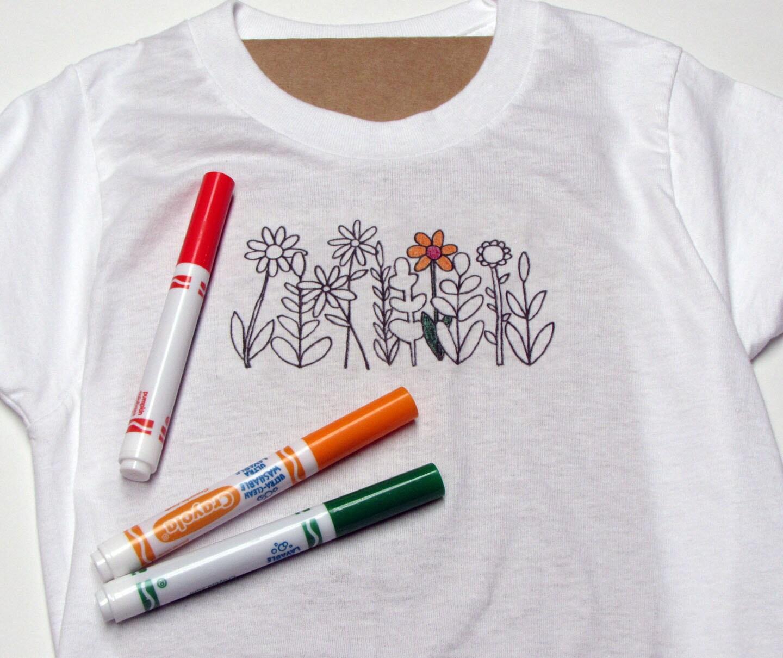 Coloring book coloring shirt t shirt color shirt girl for Diy tee shirt printing