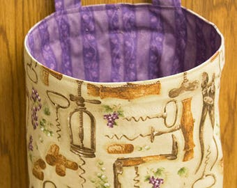 Thread Catcher, Scrap Caddy, Scrap Bag With Pin Cushion