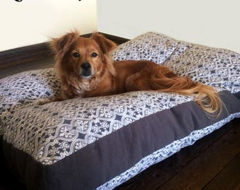 Custom Flannel Dog Bed Cover