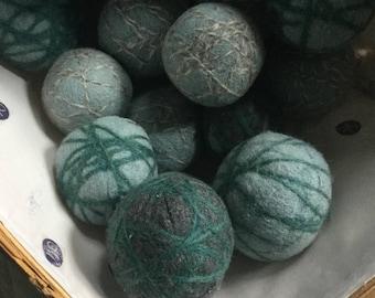All natural 100% Felted Wool dryer spheres. Woollies. Dryer sheet alternative. Wool balls.
