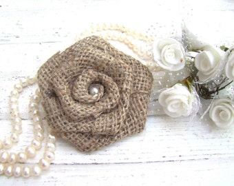 Burlap Wedding Flowers Set of 12 handmade fabric rosettes Wedding Decor Flower Ornament Bridal Wedding Party Favor Rustic Chic Bouquet