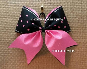 Best and Trending Customized Unique Glitter Sparkle Cheer Bows with Rhinestones by CHEERFULLY OURS BOUTIQ