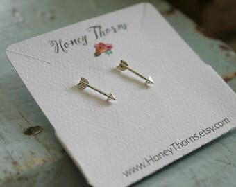 Delicate Arrow Earrings | Dainty Arrow Jewelry