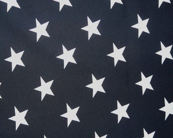 Fabric - Jersey fabric - Navy star print knit - Cotton/elastane