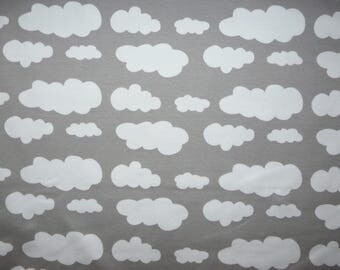 Fabric - Cotton/elastane jersey fabric - Grey cloud print knit