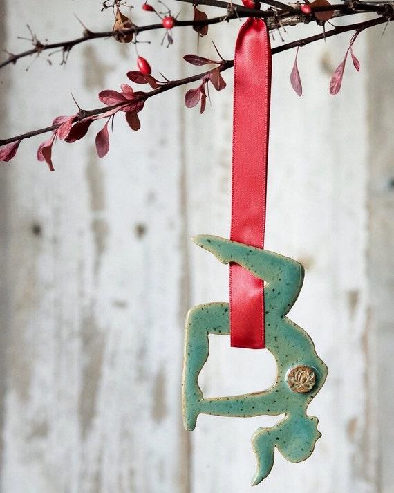 like this item  aerial yoga christmas ornament aerial hammocks silks holiday  rh   etsy