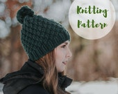 KNITTING PATTERN / / The Linden Hat / / Chunky Knit Hat, Hat Knitting Pattern, Knitting Pattern for Beginners, Toque Pattern, Chunky Beanie