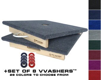 Premium 1 Hole Washer Toss / Washer Game Board Set w/ 8 VVashers™ by Get Outside Games