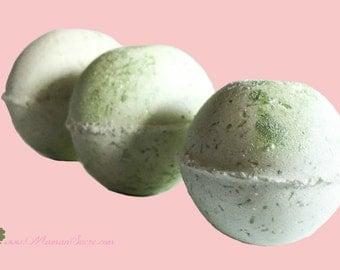 Organic Bath Bomb ~ Avocado Butter & Citrus Bath Fizz ~ Natural Bath Bomb ~ Greenery Bath Bomb ~ Bath Fizzies ~ Anti-aging, Skin-Brightening