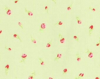 Antique Flower Pastel Green 31423-60 by Lecien Fabrics Cotton Fabric Yardage