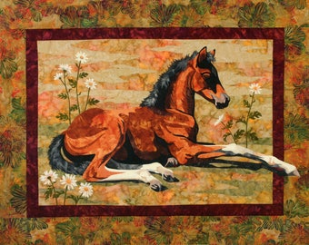 Toni Whitney Design Lazy Days Horse Foal Applique Quilt Pattern