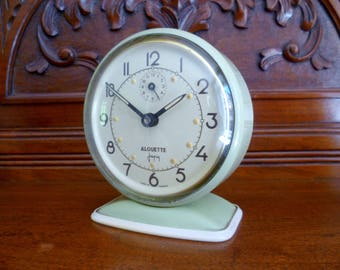 Vintage French Alarm clock Japy Alouette 1950's all original condition