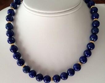 Lapis Lazuli and 14K Gold Necklace