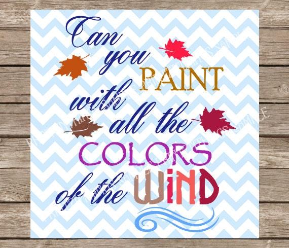 Disney Paint Colors And Ideas: Disney SVG Pocahontas Svg Disney Princess Paint With All