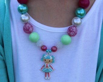 LaLa Loopsy Inspired Chunky Bubblegum Necklace